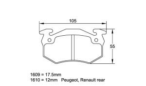 Plaquettes de frein Pagid RS44 Renault Alpine / GTA Année 85-90 AR