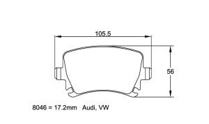 Plaquettes de frein Pagid RSL19 Audi A3 2.0 Quattro 8PA Année 04- AR