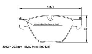 Plaquettes de frein Pagid RSL19 BMW 1 Series M Coupe E82 Année 11-13