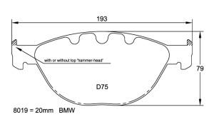 Plaquettes de frein Pagid RSL19 BMW M5 E60 Année 04- 11 Avant