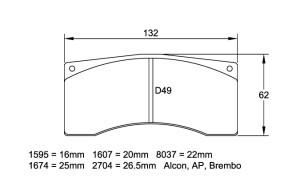 Plaquettes de frein Pagid RSL19 Citroën DS3 R5 av/ar DS3 R3 av