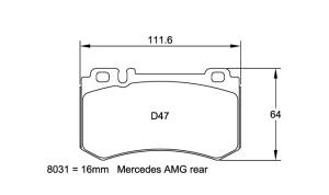 Plaquettes de frein Pagid RSL19 Mercedes SLR Année 04- Arrière
