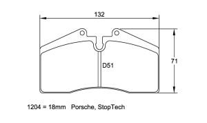 Plaquettes de frein Pagid RSL19 Porsche 928 S