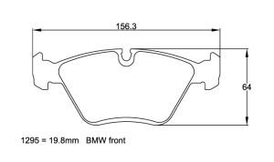 Plaquettes de frein Pagid RSL29 Alfa Romeo 156 2.0 16V Année 95-98 AV