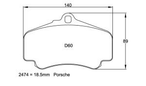 Plaquettes de frein Pagid RSL29 Porsche 996 3.4C Cup Année 99-01 Avant