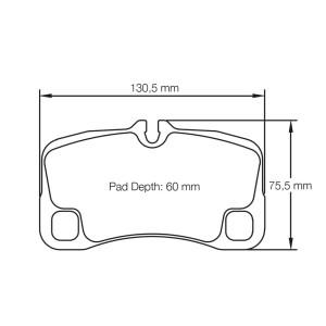 Plaquettes de frein Pagid RSL29 Porsche 997 3.8 C S Année 05-12  AR