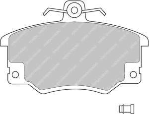 Plaquettes Ferodo DS1.11 FCP370 Lancia Delta HF Turbo Integrale Av