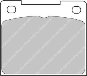 Plaquettes Ferodo DS1.11 FCP809 Citroen C2 R2 206 S1600 208 R2 Ar