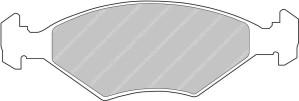 Plaquettes Ferodo DS1.11 FIAT Uno 1.1 van AN 01-88 > 12-94 AV