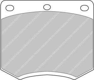 Plaquettes Ferodo DS1.11 LOTUS Elan 1.6 AN 01-72 > 12-75 AV