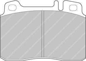 Plaquettes Ferodo DS1.11 MERCEDES E360 AMG 3.6 AN 02-96 > AV
