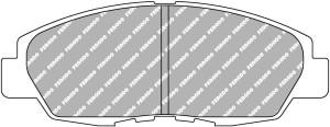Plaquettes Ferodo DS2500 FCP904 Honda Accord 1.8L i CE7 2.0L CC 16v