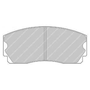 Plaquettes Ferodo DS2500 FRP203 AP Racing CP2270/CP2271 15 mm