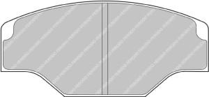Plaquettes Ferodo DSUNO FRP201 Alcon AP CP2361