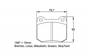 Plaquettes Pagid RS44 U1587 Subaru STi Ar / Opel Speedster Av