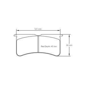 Plaquettes Pagid RSL29 U2555 AP Racing /Wilwood/Outlaw 20 mm