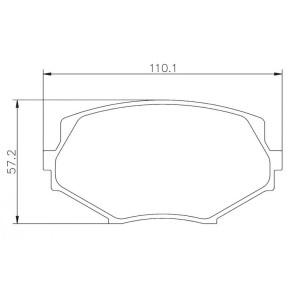 Plaquettes sportives BREMBO HP 2000 Mazda MX5 Avant