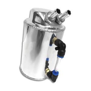 Récupérateur d'huile cylindrique vertical - 1.0L - alu avec niveau Ø12