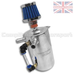 Récupérateur d'huile cylindrique vertical 0.5L alu + niveau + filtre
