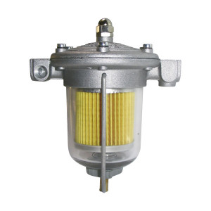 Régulateur pression essence King 85mm bocal verre 1/8NPT, sortie jauge