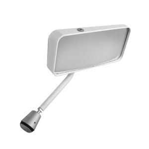 Rétroviseur Touring Gt miroir plat coloris blanc côté droit
