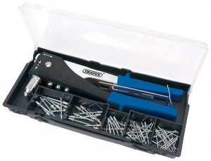 Riveteuse Draper 2 angles en coffret + 4 embouts + 60 rivets