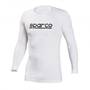 T-Shirt Sparco Karting manches longues Seamless blanc