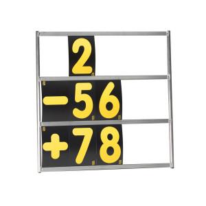 Tableau de panneautage 3 rangées en aluminium 72X72cm
