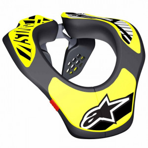 Tour de cou Alpinestars karting youth neck support junior noir/jaune