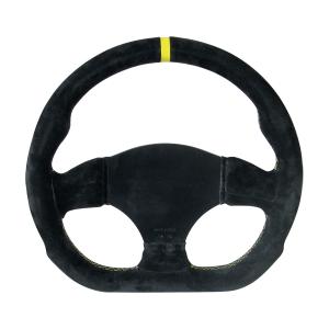 Volant BPS Formula peau Noir non percé plat 300x280mm