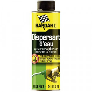 Additif Bardahl dispersant d'eau essence et diesel - bidon de 300ml