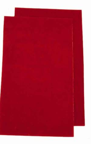 Bavettes Sparco rouges adiprene épaisseur 2mm 30x50 (la paire)