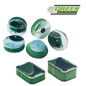Boite à air Green carburateur Weber 38 DGAR/DGAS épaisseur 90mm