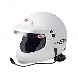 Casque jet Bell Mag-9 Rally HCB clips Hans Snell SA2015 FIA8859-2015