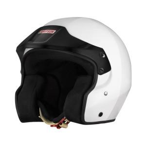 Casque jet Simpson Sport Snell SA2015/FIA clips hans visière noire