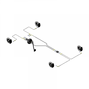 Circuit hydraulique Gr.N Honda Civic Typ R, raccords sur MC et étriers
