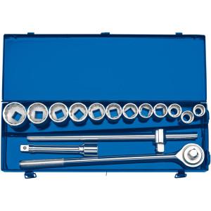 Coffret clé à cliquet réversible 12 douilles 3/4 mm 15 pièces