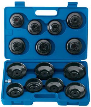Coffret de cloches clés coiffes pour filtre à huile 15 pièces