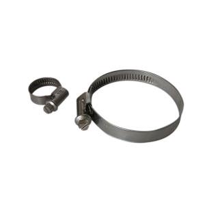 Collier simple serrage - diamètre 110 à 130 mm - largeur 9 mm - inox