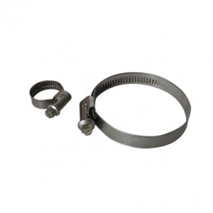 Collier simple serrage - diamètre 120 à 140 mm - largeur 9 mm - inox