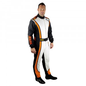 Combinaison BPS Racing Team Homme Blanc/Noir/Orange FIA 8856-2000