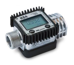 """Compteur K24 numérique à turbine - filetage BSP 1""""x11 Gaz"""