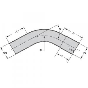 Coude d'échappement - inox - diamètre 76.1mm - angle 180°