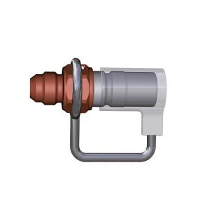 Coupleur Staubli STP08 7655 JIC 9/16x18 male - joint viton - alu