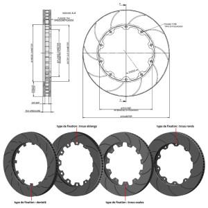 Disque de Frein TM Performance AvD 355x32 Alpine A110