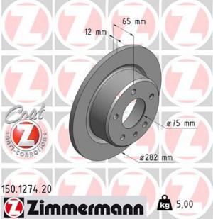 Disque de Frein Zimmermann Gr.N BMW Série 3 E30 M3 Ar (pièce)