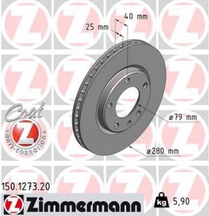 Disque de Frein Zimmermann Gr.N BMW Série 3 E30 M3 Av (pièce)