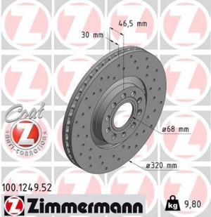 Disque de Frein Zimmermann Percé Audi A4 S4 Quattro 2.7 321x30 (pièce)