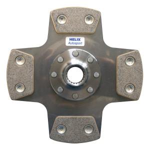 Disque embrayage Helix 200mm 21x24 Amorti 4p boite Sman