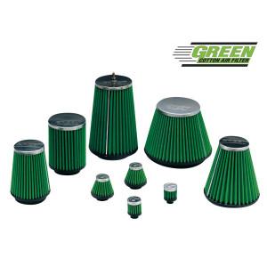Filtre à air Green conique entrée Diam 70/Cone 120x75/H 100 coudé 25°